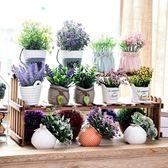 仿真花盆栽綠植物擺件客廳餐廳室內桌面裝飾花多肉假花干花小盆景WL4103【衣好月圓】TW