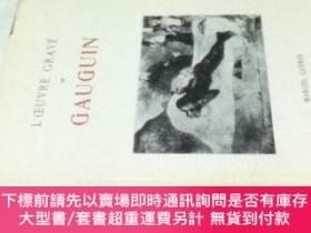 二手書博民逛書店佛文)ポール·ゴーギャン版畫集L'Oeuvre罕見Grave de Gauguin.Y449231