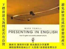 二手書博民逛書店Presenting罕見In EnglishY255562 Mark Powell Language Teac