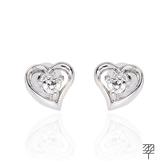 【LECRIN翠屋珠寶】優雅D:0.16克拉鑽石耳環