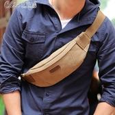 胸包 男士腰包多功能戶外運動迷你小包帆布男包包休閒斜背包「交換禮物」