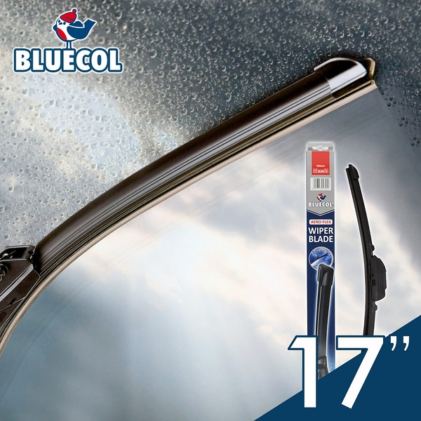 BLUECOL藍雀Aero-Flexible高彈性氣動軟骨雨刷17吋(430mm)