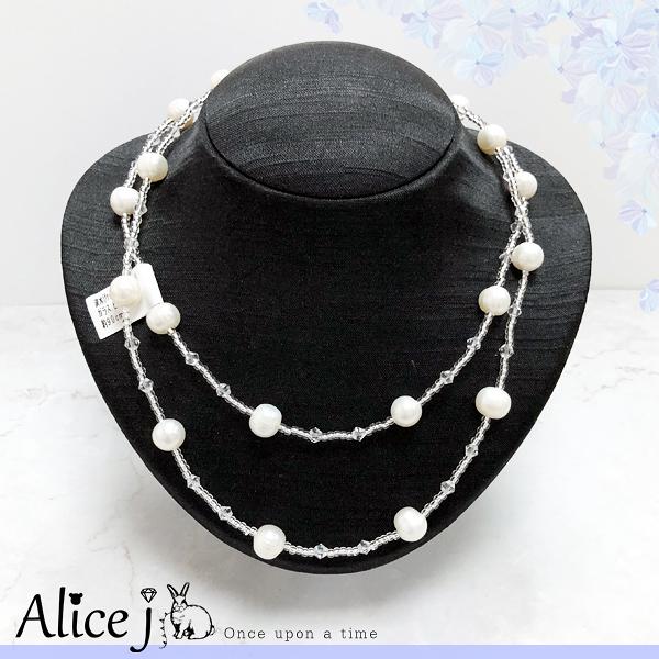 日本原裝✈經典貴婦款淡珍珠項鍊