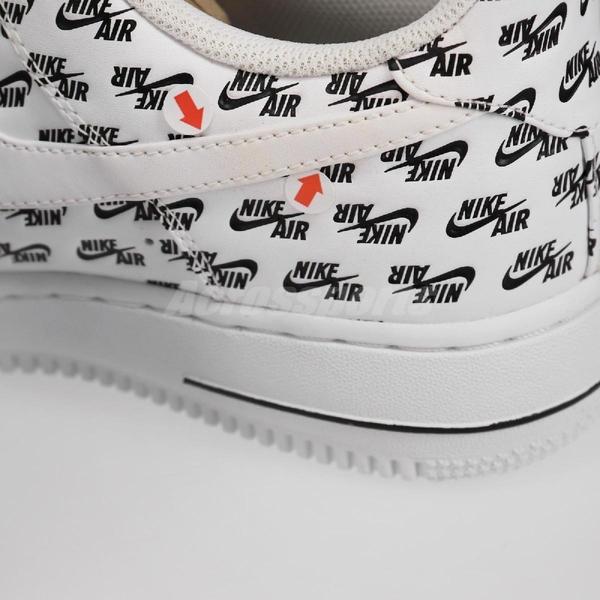 【US9-NG出清】Nike 休閒鞋 Air Force 1 07 QS AF1 白 黑 男鞋 左外側右內側LOGO泛黃 無原盒【ACS】