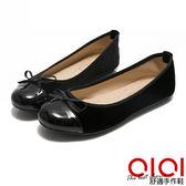 娃娃鞋 MIT小蝴蝶拼接菱格紋豆豆娃娃鞋(黑)*0101shoes【18-621bk】【現貨】