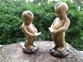 假山盆景配件上水石陶瓷尿童魚缸擺設噴水小孩人物擺件水族裝飾品 HOME 新品