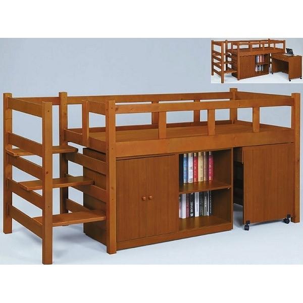 床架 高架床 PK-186-3A 多功能組合床組(含收納櫃.書桌)(不含床墊) 【大眾家居舘】