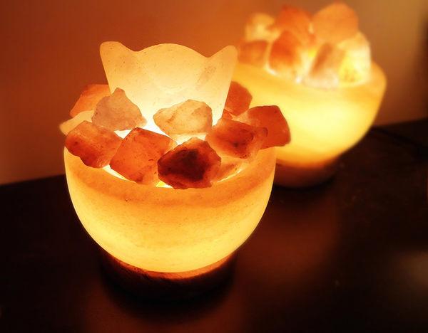 鹽燈 [Naluxe] 時尚開運水晶鹽燈-精巧聚寶盆水晶鹽燈(小元寶開運組)
