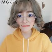 MG 裝飾眼鏡-圓形復古超大框防輻射藍光架眼鏡