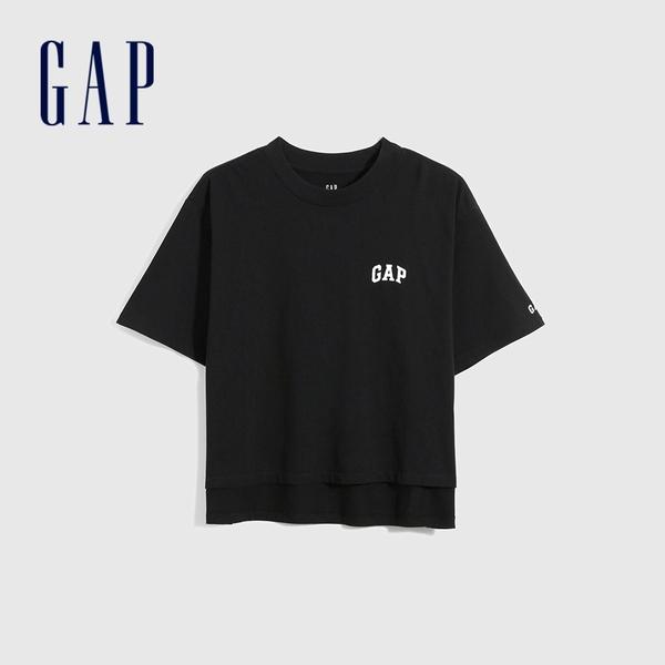 Logo純棉寬鬆短袖T恤