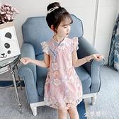 女童旗袍洋裝夏裝新款夏季中國風漢服洋氣小女孩公主裙 極簡雜貨