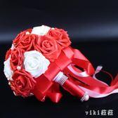 VIKI-新娘手捧花韓式婚禮仿真玫瑰新娘伴娘手捧花束創意時尚結婚用品 nm4206 【VIKI菈菈】