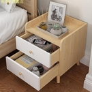 實木腿北歐床頭柜置物架簡約現代臥室床邊小柜子儲物柜床頭收納柜 【現貨快出】YJT