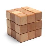 魔方 木制魔方3階鎖孔明鎖魯班鎖三階木制拆裝兒童益智玩具【端午快速出貨限時8折