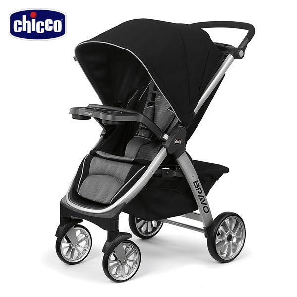 【好禮買就送】chicco-Bravo極致完美手推車Air版-星塵黑