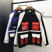情侶外套春秋韓版學生寬鬆工裝棒球服bf港風情侶秋季嘻哈夾克外套 嬡孕哺
