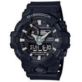 G-SHOCK 創新突破金屬感強悍視覺休閒j腕錶-黑X黑面