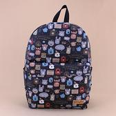 後背包 包包 防水包 雨朵小舖 M451-056 圓頭大後背包-黑一起學英文造句14269 funbaobao
