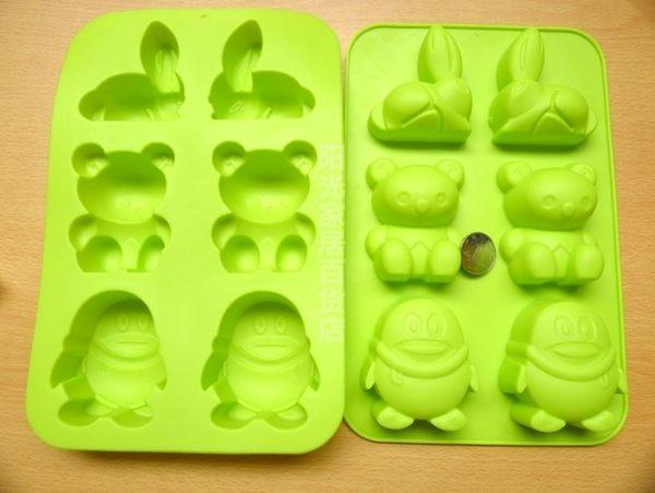 [協貿國際]  小白兔熊北極企鵝矽膠蛋糕模具