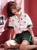 宮蝶睡衣女春夏季短袖純棉兩件套裝韓版寬鬆可外穿日系草莓家居服 草莓妞妞