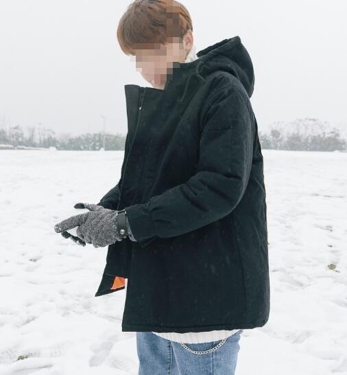 FINDSENSE品牌2018 新款 韓國  長袖  潮流上衣加厚 迷彩色 連帽