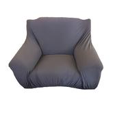 HOLA 素色彈性三人沙發套-灰色