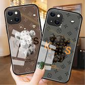 潮牌玩偶IPhone 13手機殼 個性創意iPhone13 Pro Max保護殼 日韓全包蘋果13 Pro手機套 蘋果13 mini保護套