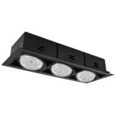 【光的魔法師Magic Light】AR70黑色有邊盒燈三燈-方形崁燈白光6000K