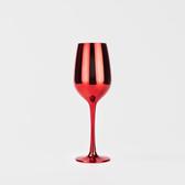 WAGA 歐式 都會低奢真空鍍色有機玻璃高腳杯-亮紅