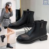 大碼短靴 馬丁靴女鞋41一43英倫風40肥腳寬mm秋季新款42女靴 - 古梵希