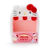 小禮堂 Hello Kitty 造型絨毛玩偶收納盒 玩偶展示盒 絨毛置物盒 (紅白 熱帶沙灘) 4550337-58920