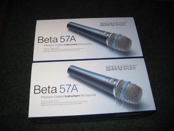 【金聲樂器廣場】全新 Shure Beta 57 A 麥克風 樂器 收音專用