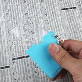 【日本I.L.K.】3x/42x38mm 日本製超輕薄攜帶型放大鏡 藍色