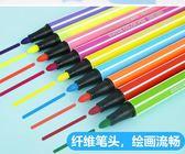 水彩筆24色彩色筆繪畫兒童彩筆套裝畫筆無毒可水洗幼兒園手繪 東京衣櫃