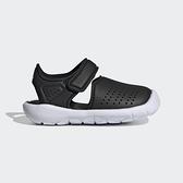 Adidas Fortaswim Stripes I [FW6042] 小童鞋 涼鞋 排水 透氣 魔鬼氈 愛迪達 黑 白