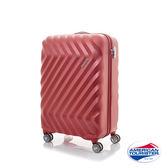 AT美國旅行者 20吋 ZAVIS 立體閃電防刮耐磨飛機輪 TSA硬殼登機箱 (紅織紋)