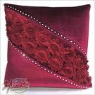 00270086 195J 玫瑰系列 大抱枕深紫 單入 抱枕