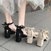 高跟鞋學生十八歲仙女風粗跟春季新款晚晚風溫柔涼鞋女ins潮 阿卡娜