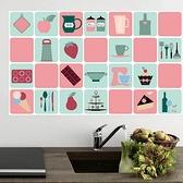 4張裝 防油貼紙瓷磚防水油煙墻貼廚房墻壁防潮擋油壁紙【櫻田川島】