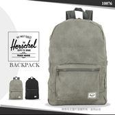 《熊熊先生》Herschel 黑色/灰色素面後背包 10076 輕量肩背包 大容量 DAYPACK 旅行包外出休閒包萬用包