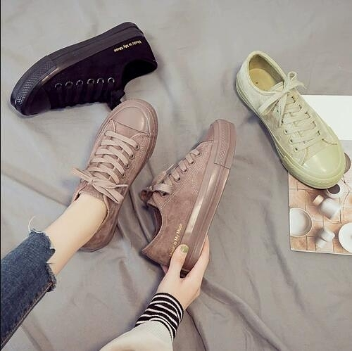 女休閒板鞋 二棉鞋帆布鞋女2020年新款秋冬季百搭學生冬鞋休閑板鞋子