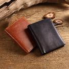 免費烙字  手工真皮短夾 有拉鍊零錢包 零錢包可以拆卸多功能短夾 【Solomon 皮件】
