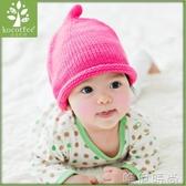 兒童帽 KK樹新款嬰兒帽子春秋0-3-6-12個月寶寶毛線帽保暖針織帽 時尚新品