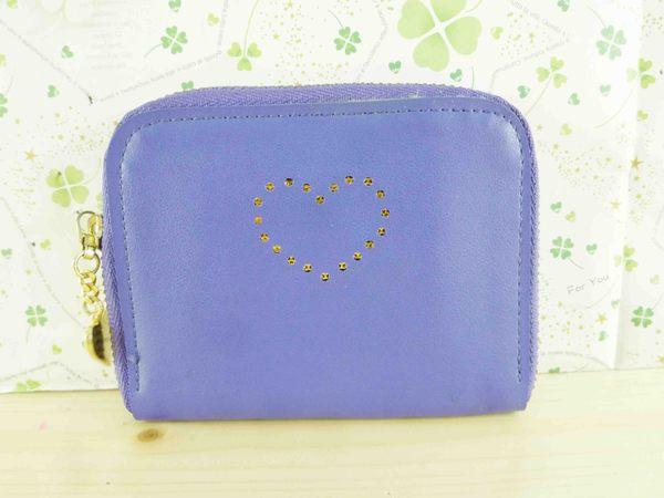 【震撼精品百貨】皮製零錢包~紫色