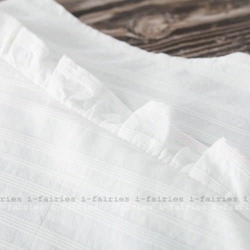 現貨+快速★中大尺碼洋裝 荷葉邊立領連身裙★ifairies【41478】