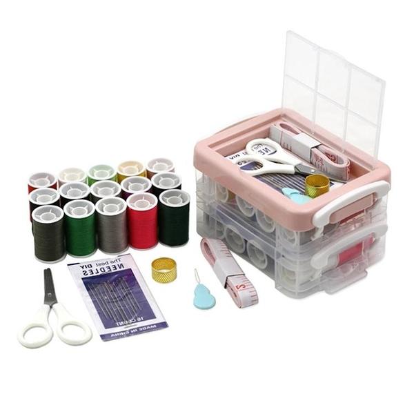 針線盒 家用針線盒套裝便攜式多功能針線包縫紉針線手縫針小型女學生宿舍