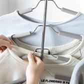✭米菈生活館✭【N400】多層簡約衣架 晾衣架 多功能 連衣桿海綿衣架 衣櫃 收納 防滑