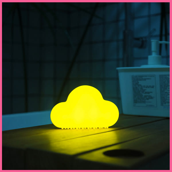 雲朵燈 創意USB可充電小夜燈 新年禮物 磨砂 可吸墻面燈【美樂蒂】