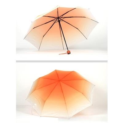 雨傘-糖果色漸變防曬八根鋼骨輕巧三折遮陽傘9色73pp103【時尚巴黎】