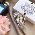 VOGUE STUDIO 璀璨系列 三眼計時 彩鑽 女錶 (5V1905-121S) 黑/36mm